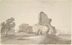 Ruined mosque at Chumau on the road from Agra to Delhi (U.P.). 10 February 1789